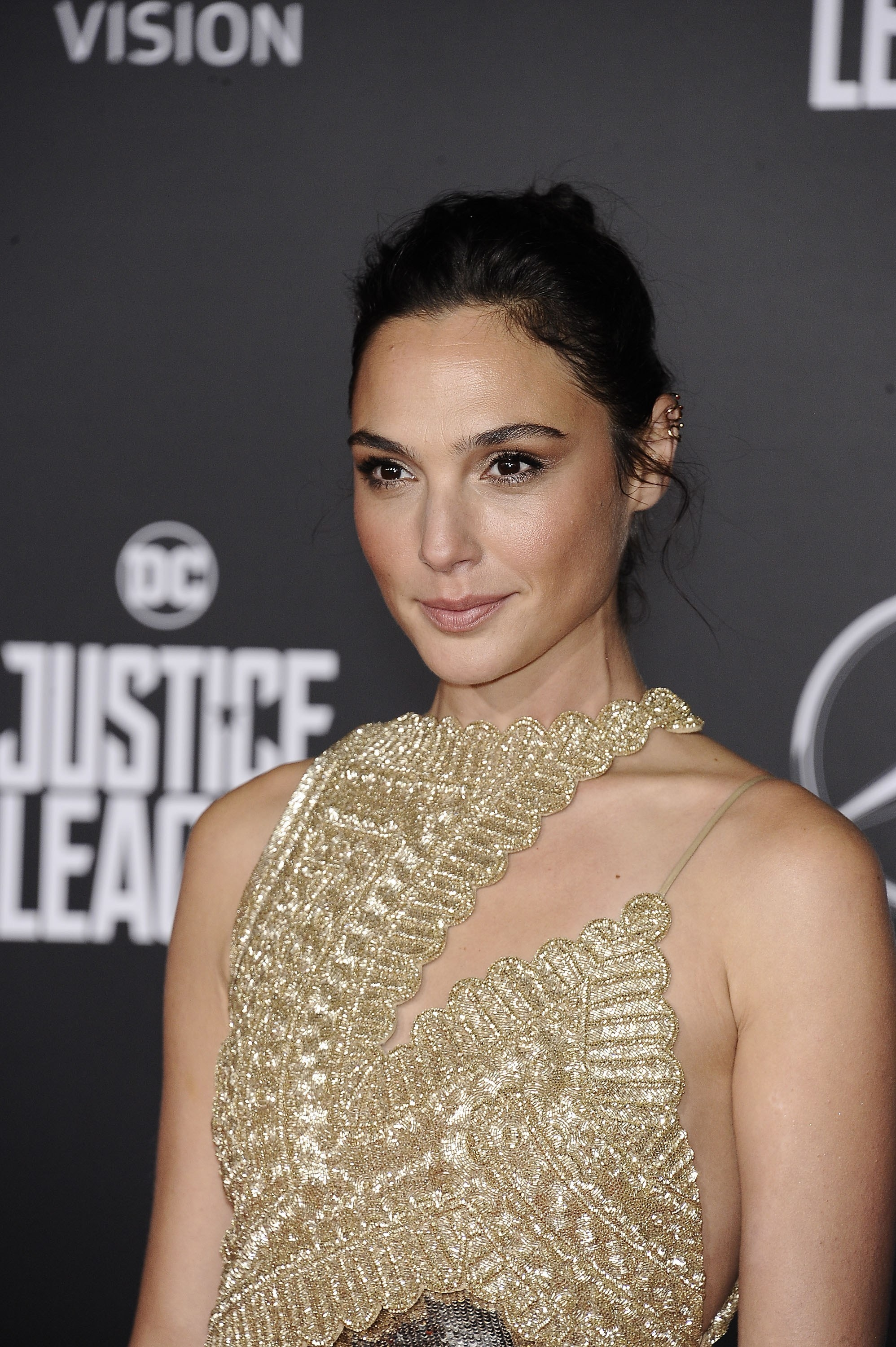 Gal Gadot at the Justice League premiere in 2017