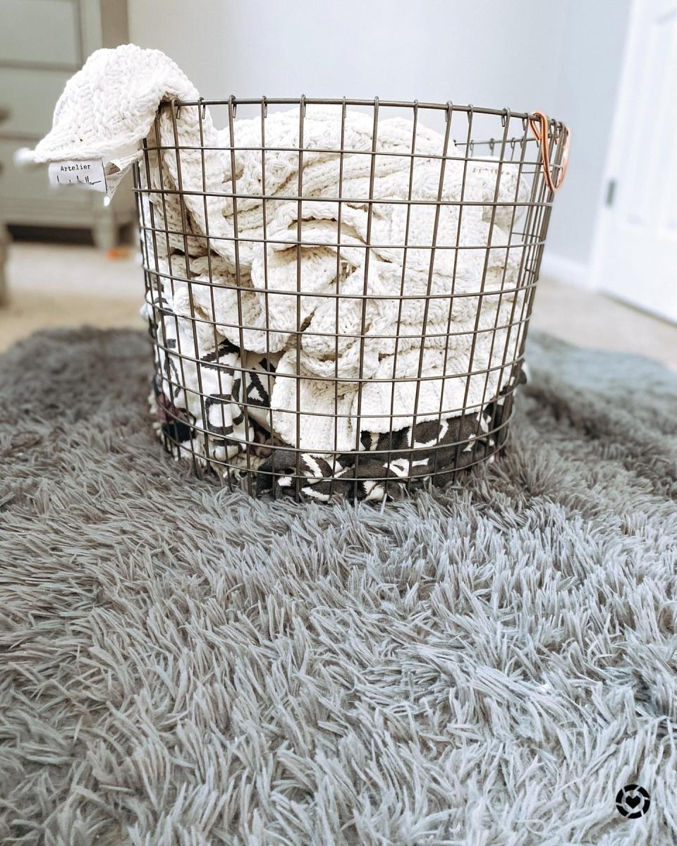 A wire basket