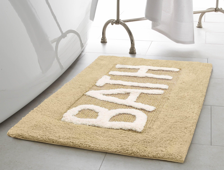 Bathroom mat sitting in bathroom