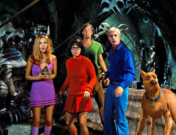 L-R: Daphne, Velma, Shaggy, Fred and Scooby-Doo