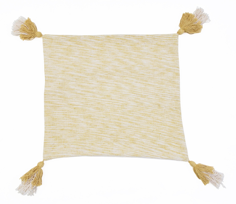 Mustard textured pillow