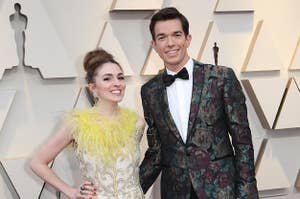 Anna Marie Tendler and John Mulaney at the 2019 Oscars