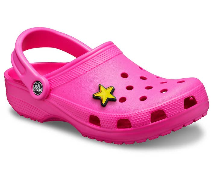 product image of pink croc with star charm