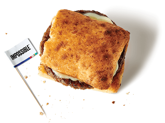 a breakfast sandwich from above