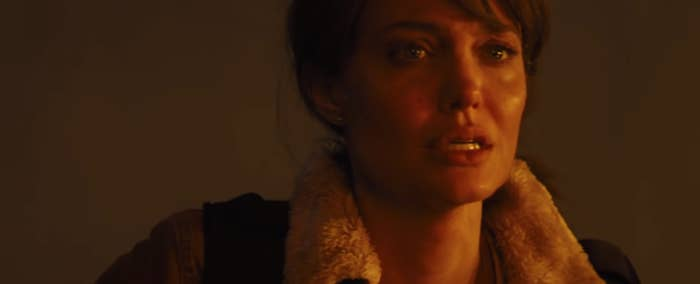 """Angelina Jolie in her new film, """"Those Who Wish Me Dead"""""""