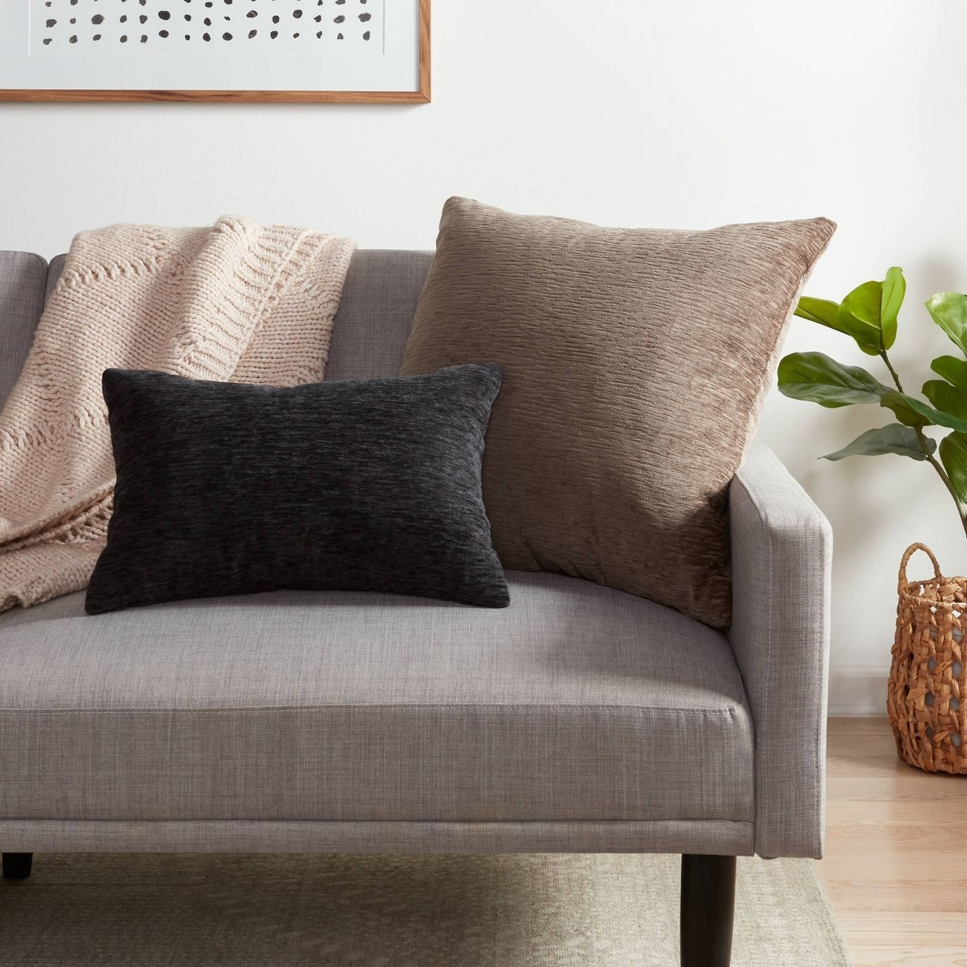 Brown and black pillows in a home
