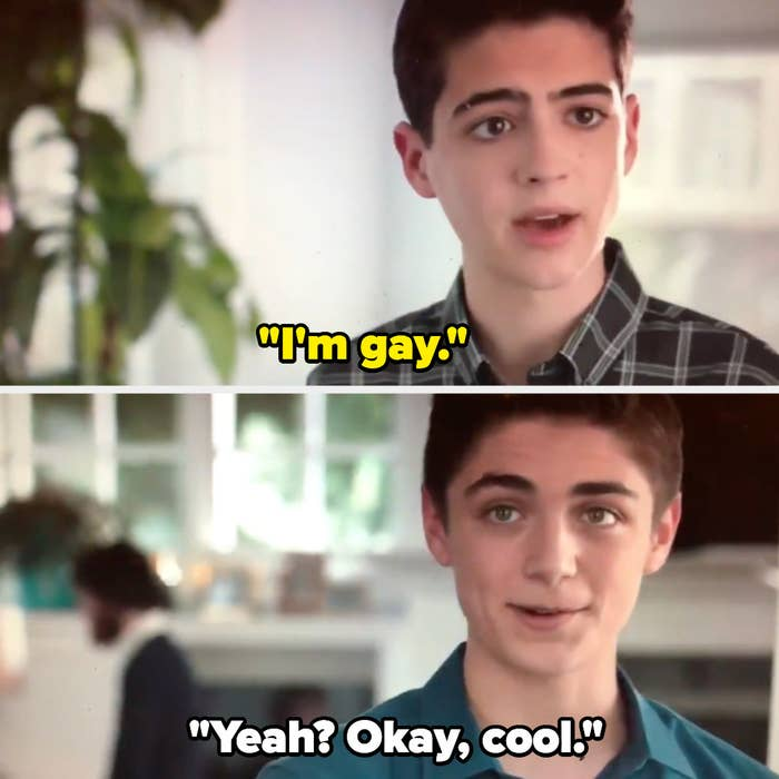 Cyrus telling Jonah that he's gay on Andi Mack