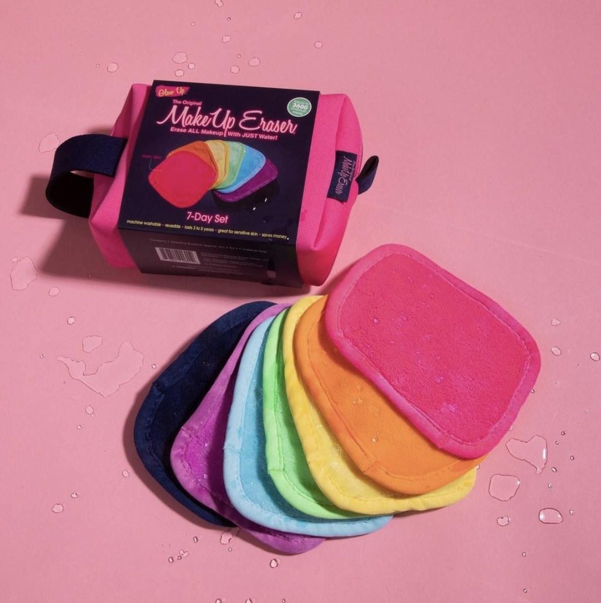 The makeup erasers