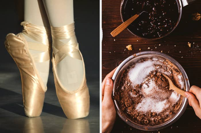 Ballet slippers and baking