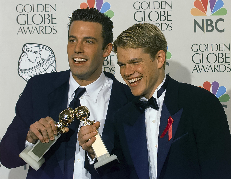 Ben Affleck and Matt Damon at the 1998 Golden Globes