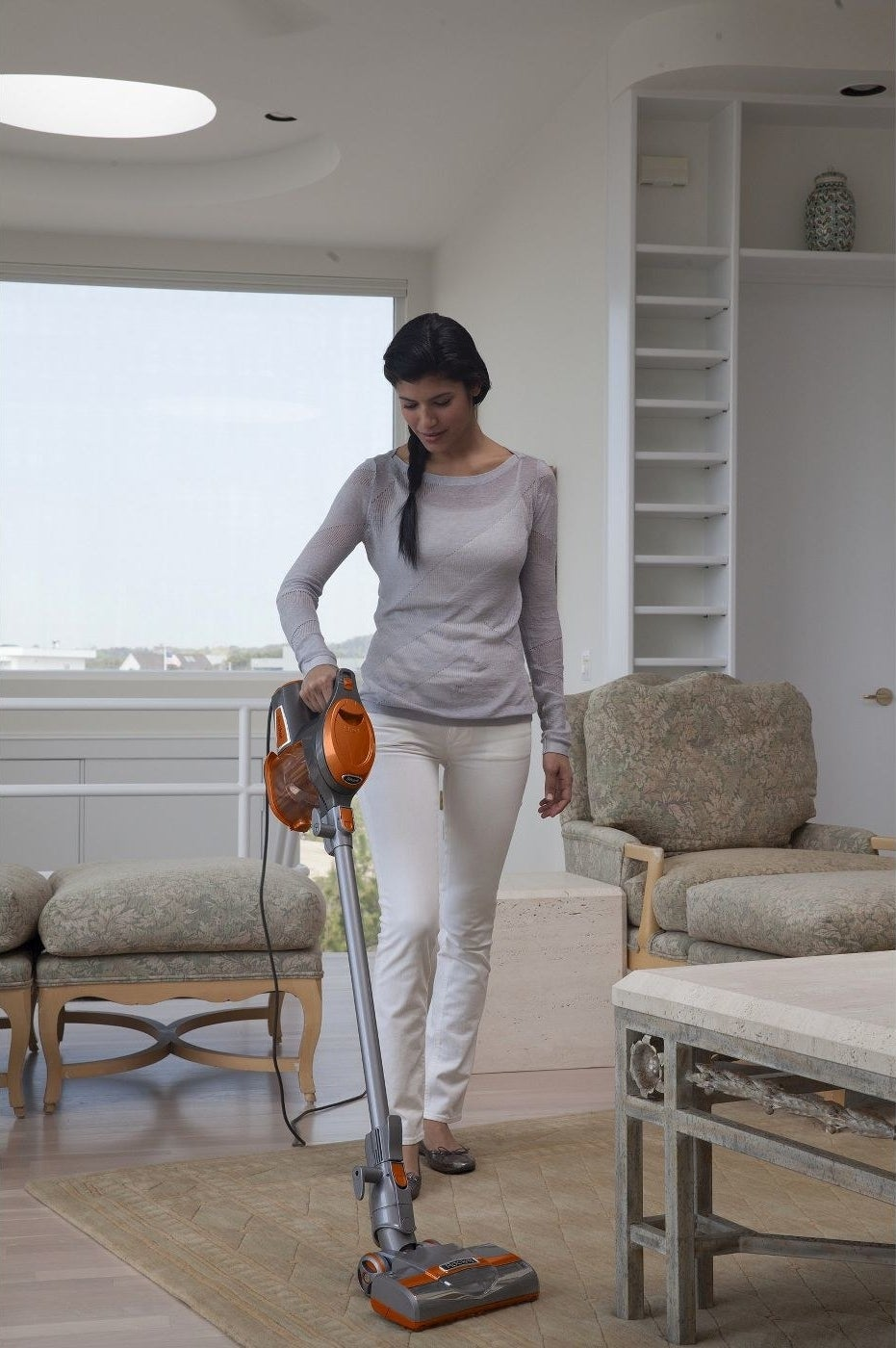 Model vacuuming in a home