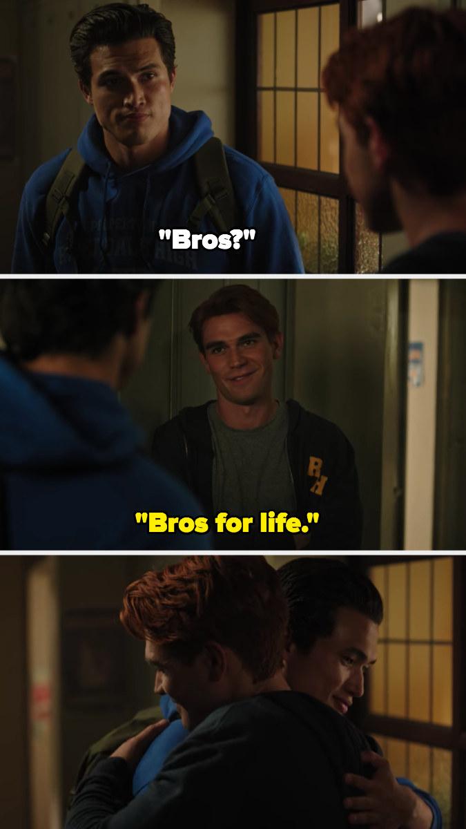 """Reggie: """"Bros?"""" Archie: """"Bros for life"""""""