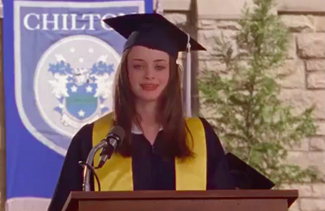 """Rory Gilmore from """"Gilmore Girls"""" graduating"""