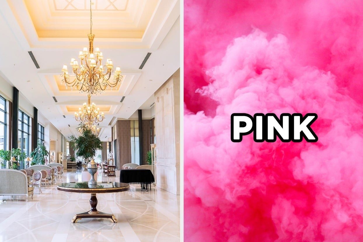 Hotel lobby and pink