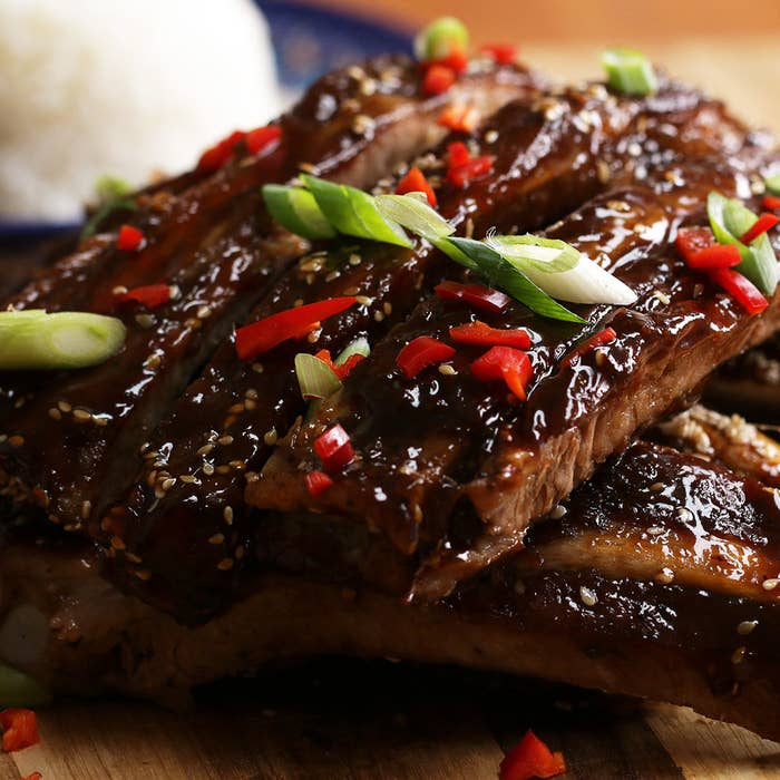 Asian-style BBQ ribs.