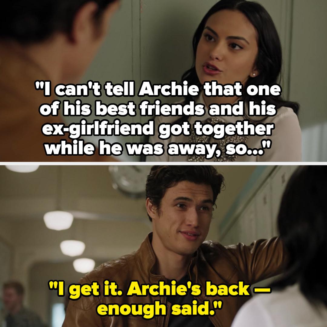 """Reggie: """"I get it, Archie's back, enough said"""""""