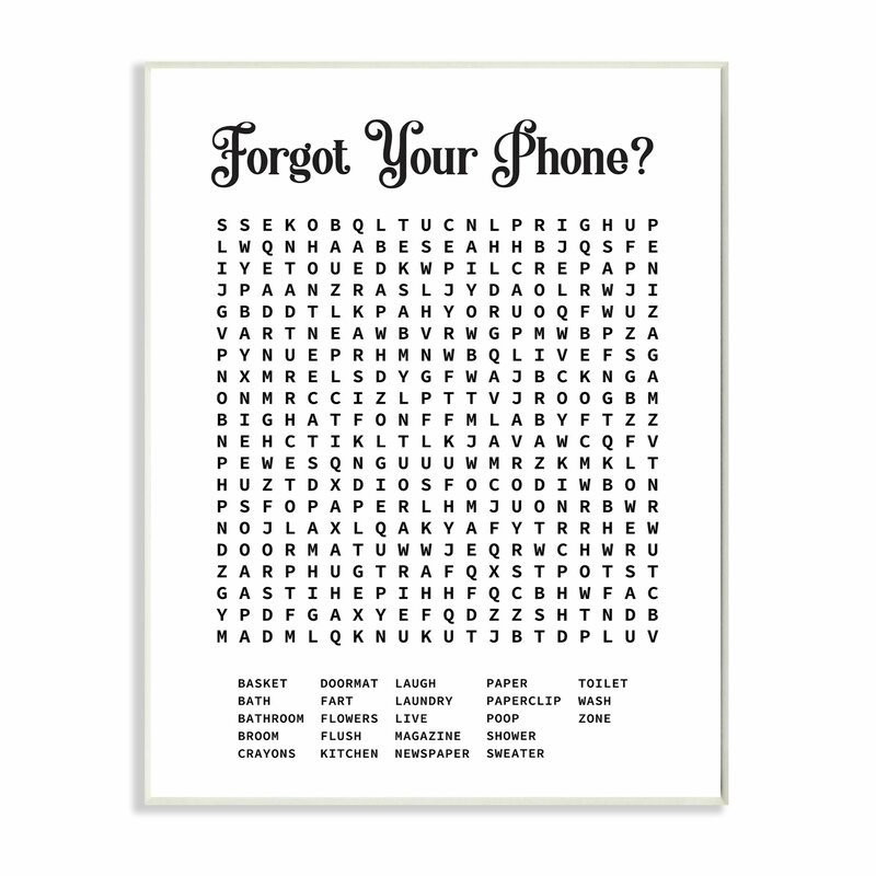 Crossword puzzle print