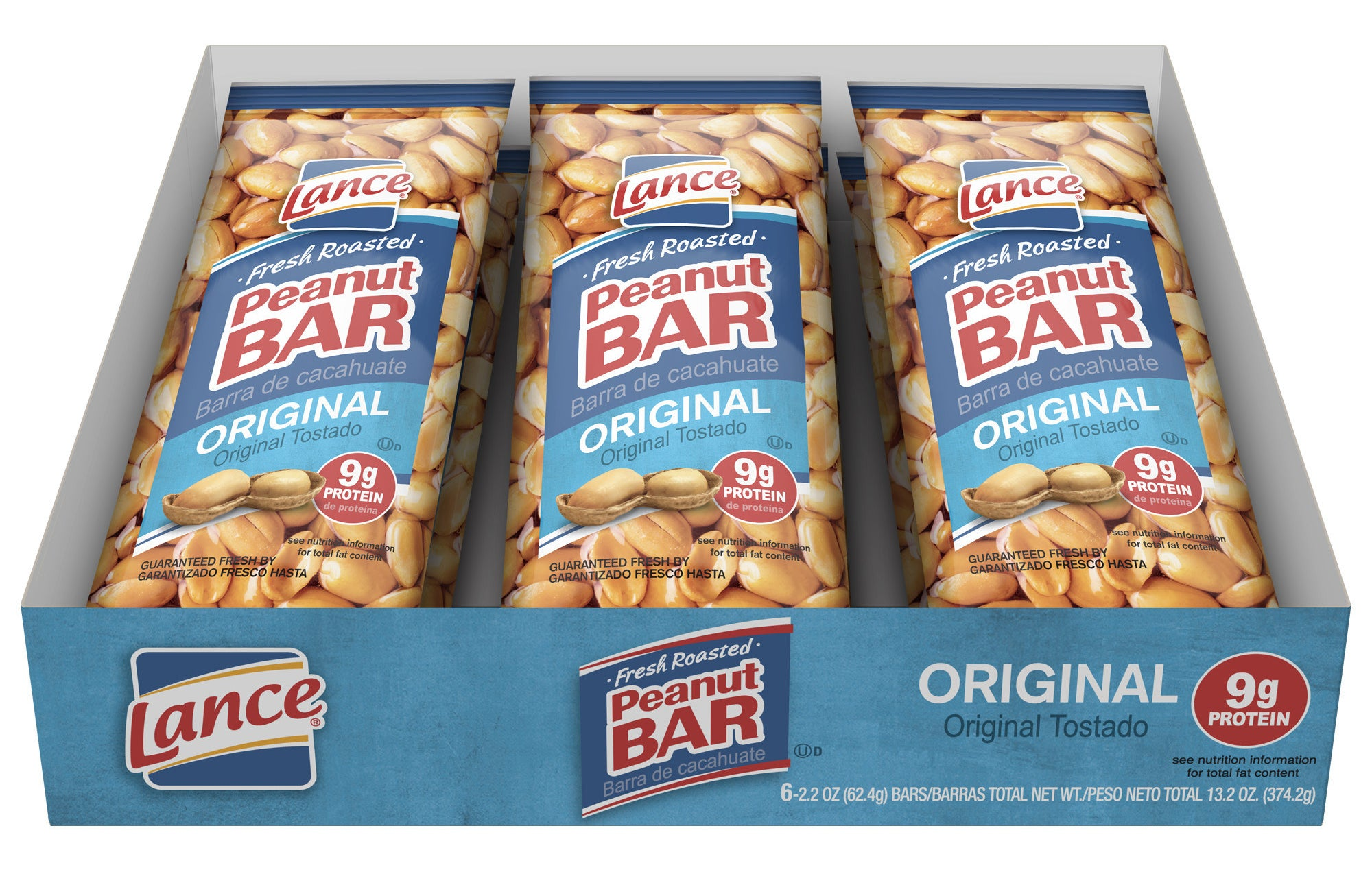 the bars in a tray