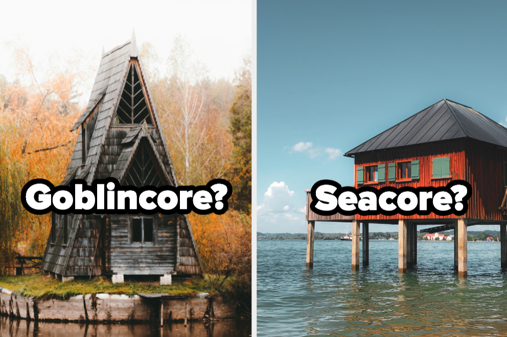 Goblincore cabin and seacore cottage