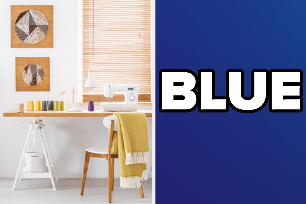 Sewing room and blue