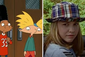 Gerald and Arnold are on the left with Alex Mack on the right