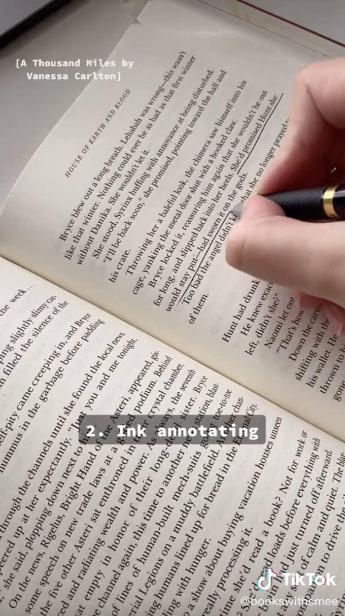 TikTok of annotating book