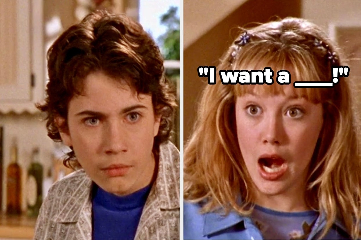 """Gordo and Lizzie with the words """"I want a ___!"""""""