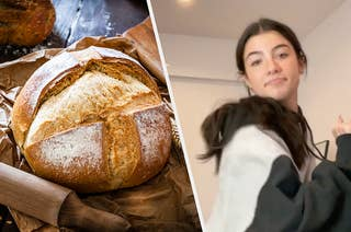 Sourdough bread and Charli D'amelio dancing