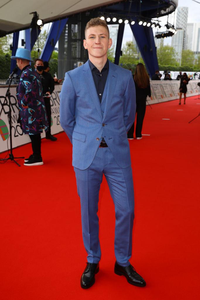 Nathan Evans arrives at The BRIT Awards 2021