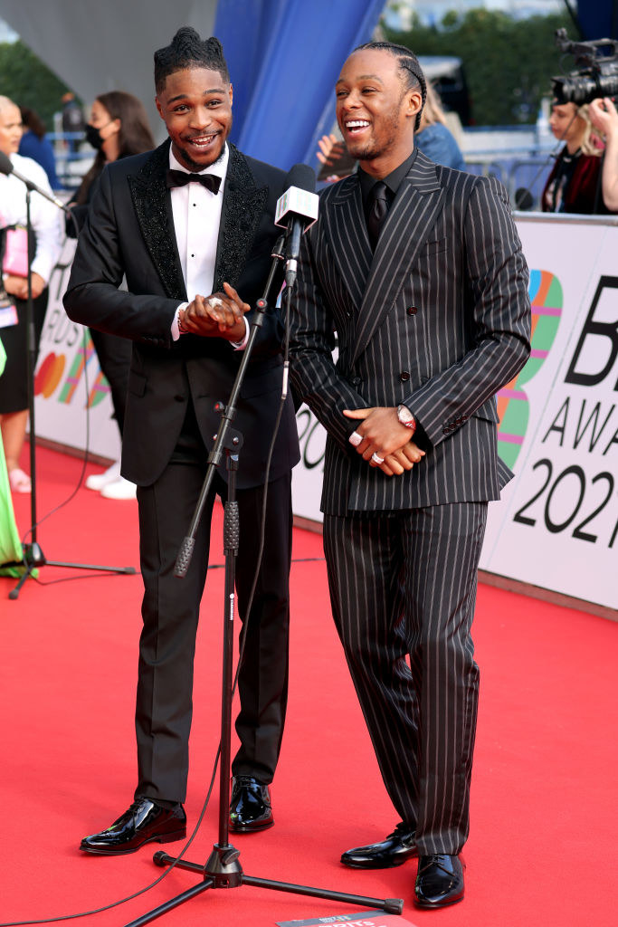 Young T and Bugsey arrive at The BRIT Awards 2021