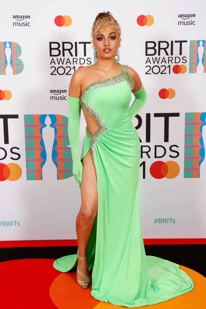Mabel arrives at The BRIT Awards 2021