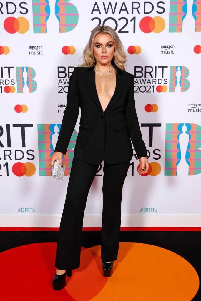 Tallia Storm poses in the media room during The BRIT Awards 2021