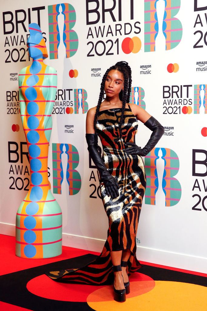 Lianne La Havas poses in the media room during The BRIT Awards 2021