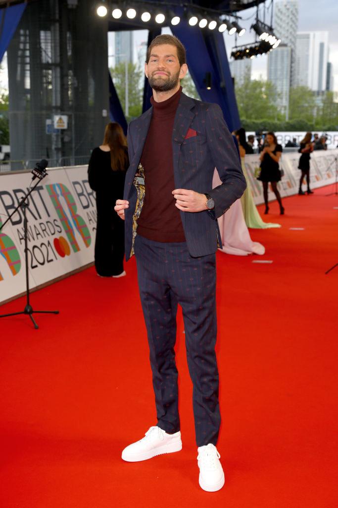 Nathan Dawe arrives at The BRIT Awards 2021