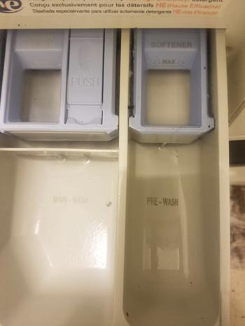 reviewers washing machine detergent pocket looking clean