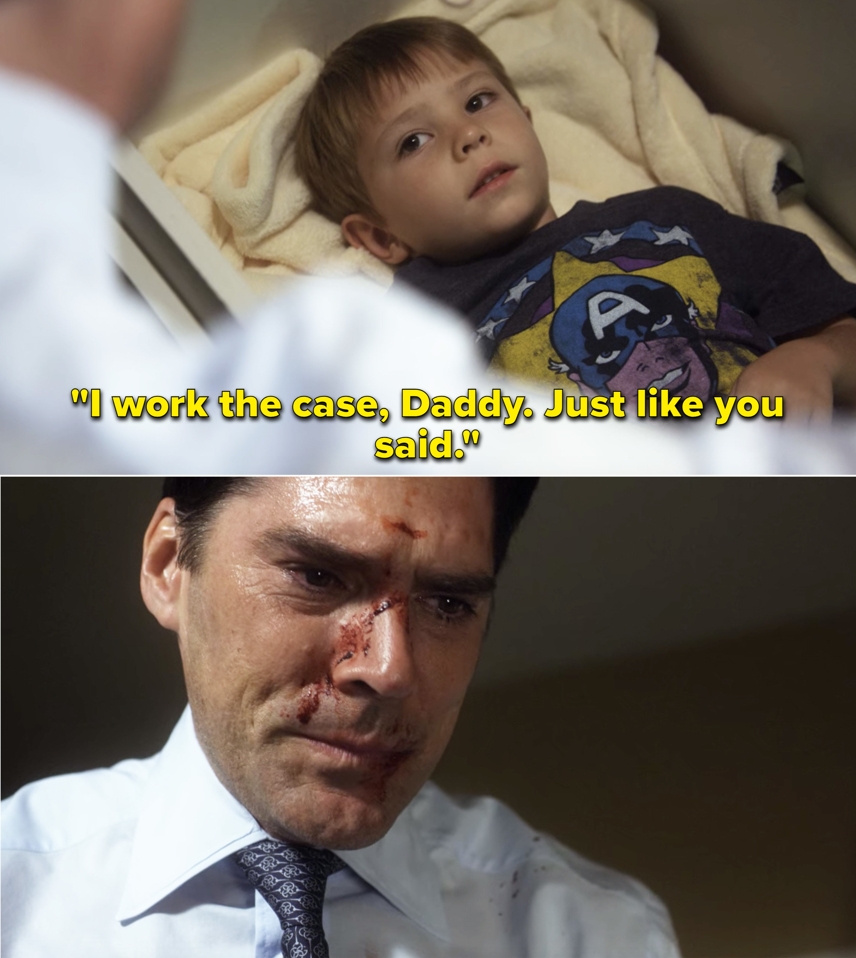 """Jack saying, """"I work the case, Daddy. Just like you said"""""""