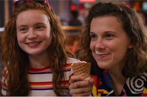 max and eleven eating ice cream
