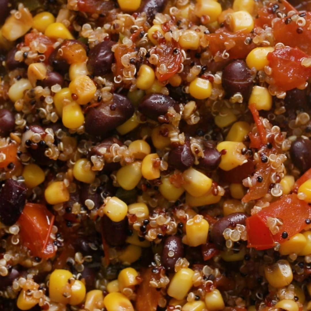 Salad of quinoa, corn, and tomatoes
