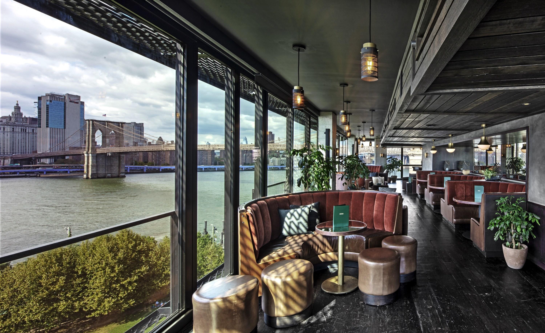 the bar overlooking the Brooklyn Bridge