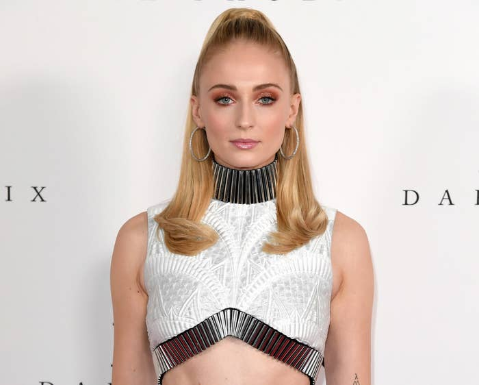Sophie looks serious at an event