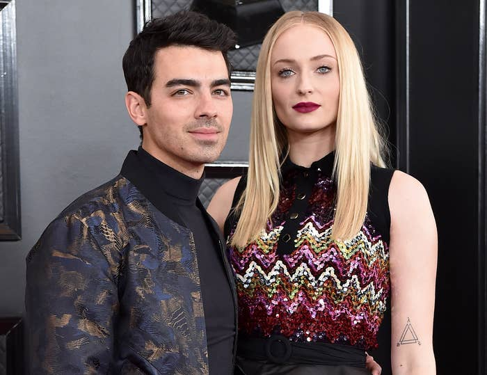 Sophie poses with husband Joe Jonas at an event