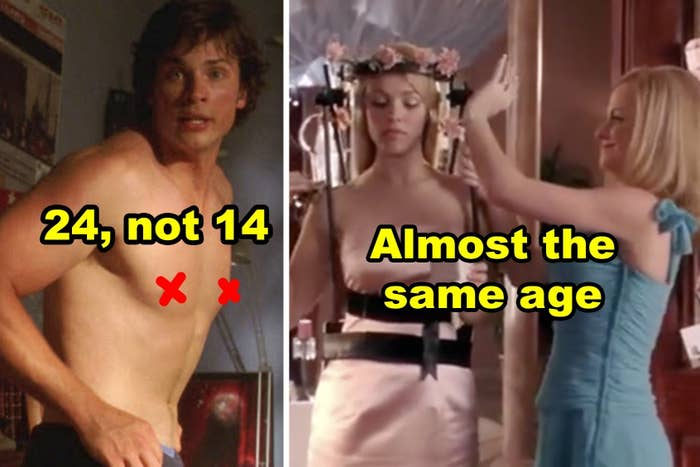 """Side-by-side of Tom Welling in """"Smallville"""" and Amy Poehler and Rachel McAdams in """"Mean Girls"""""""