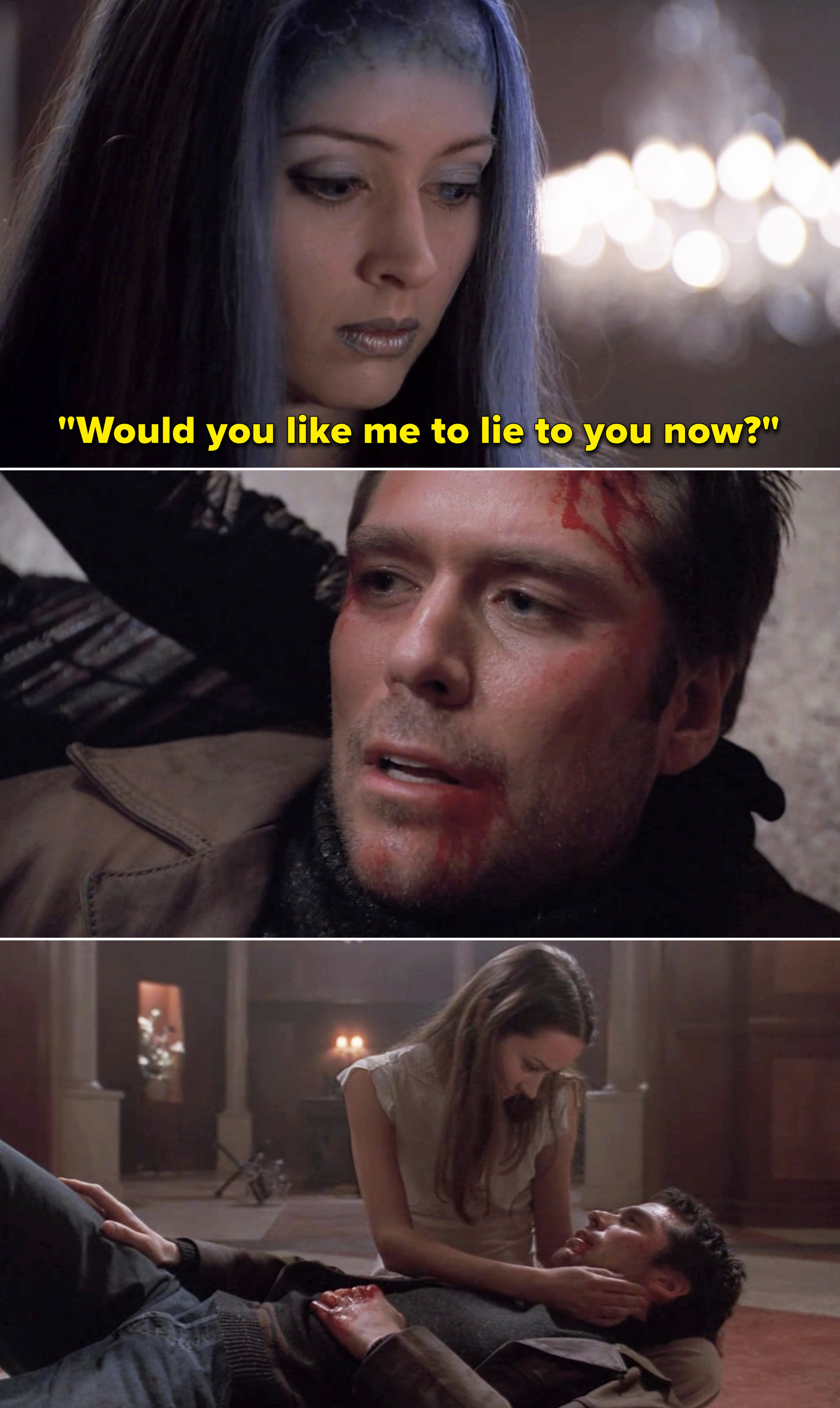 """Illyria saying, """"Would you like me to lie to you now?"""""""