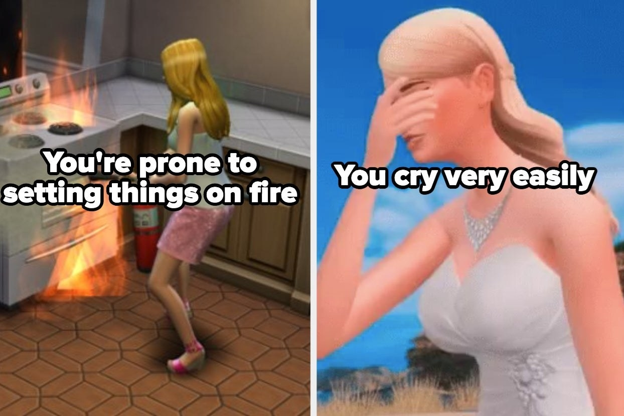 """""""You're prone to setting things on fire"""" alongside """"You cry very easily"""""""