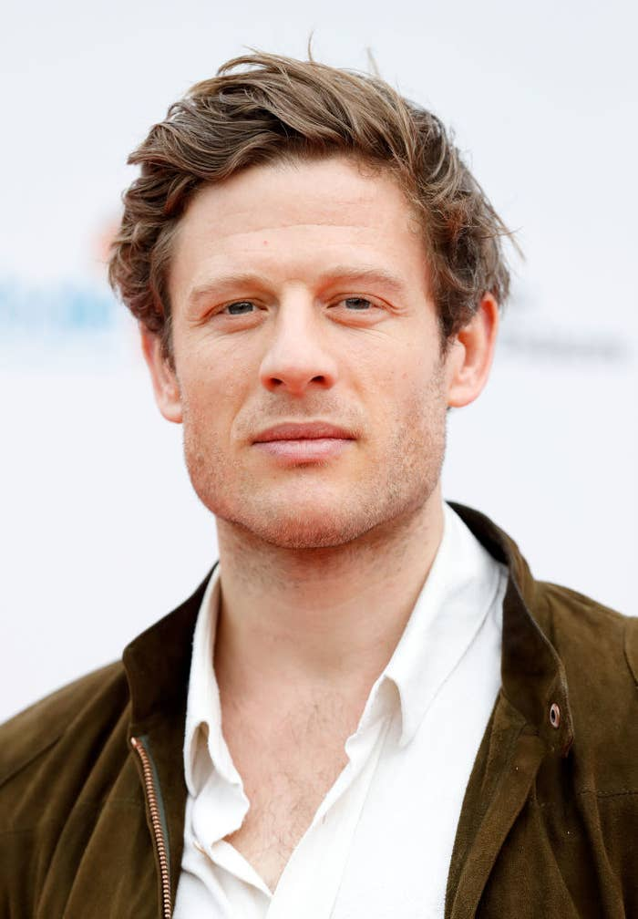 James Norton with an unbuttoned, open collar