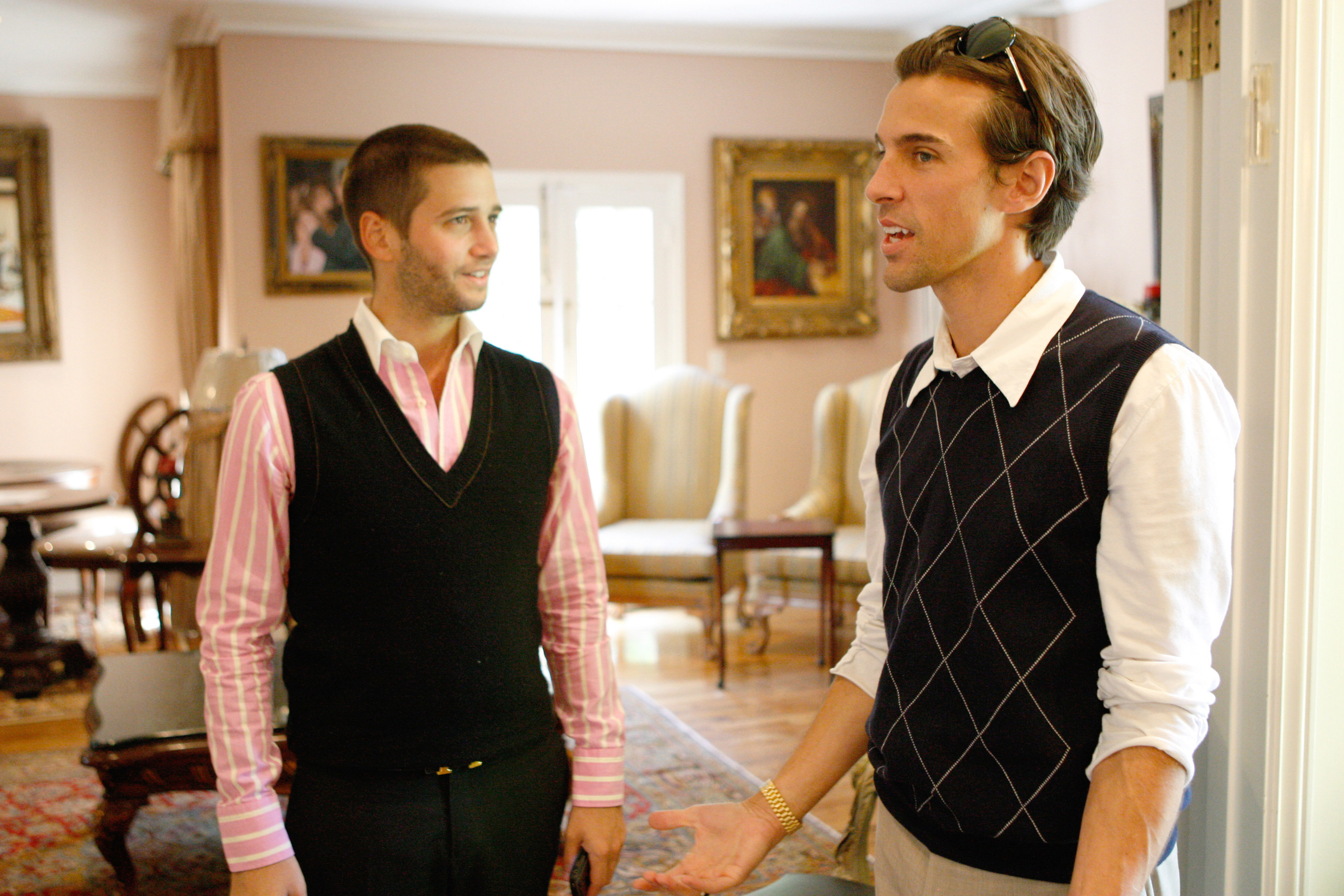 Josh Flagg and Madison Hildebrand showing a house