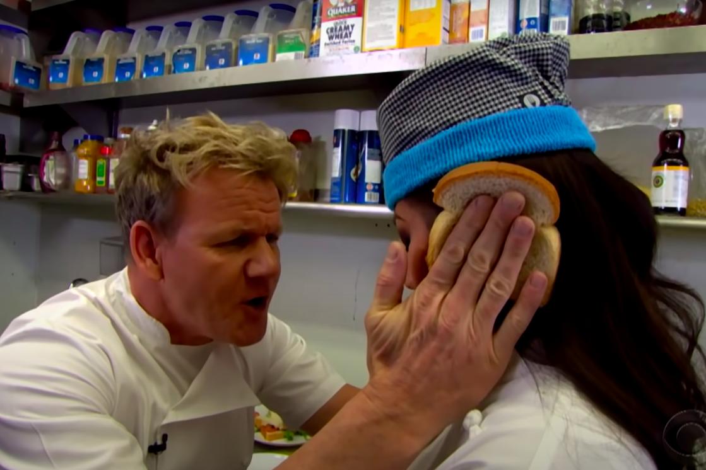 "the ""idiot sandwich"" sketch with Gordon Ramsay"