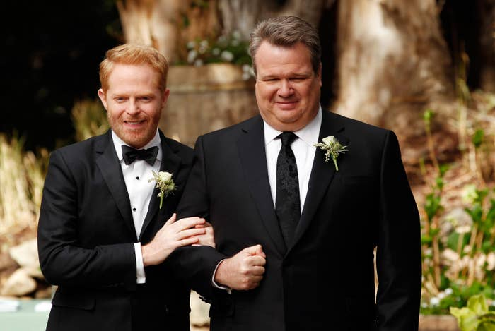 Jesse Tyler Ferguson and Eric Stonestreet at their wedding