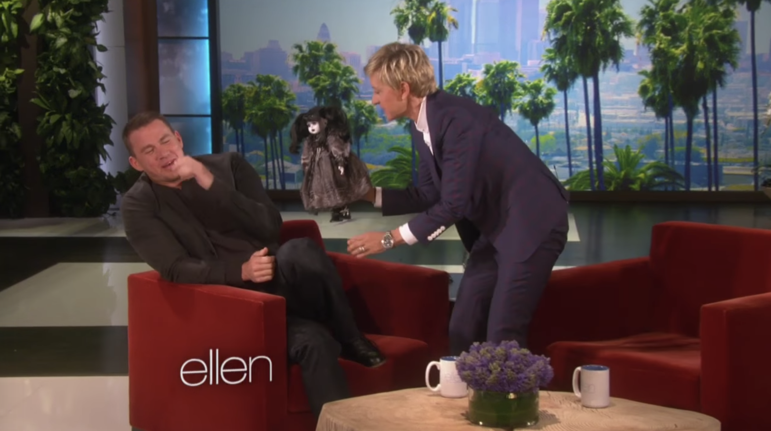 Channing Tatum appearing on The Ellen Show