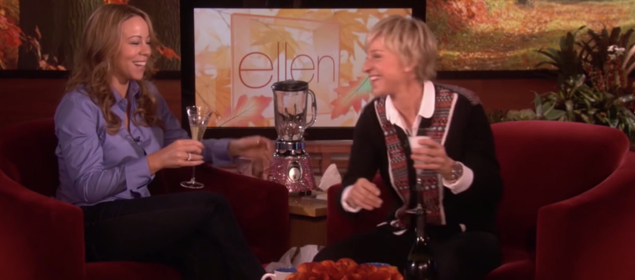 Mariah Carey appearing on The Ellen Show